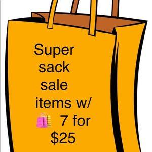 Super Sack Sale 7 🛍 for $25